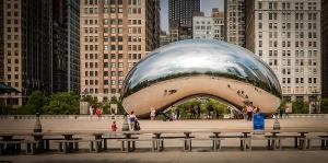 The Bean, in down town Chicago's Millennium Park.