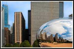 Chicago Millennium Park, The Bean Sculpture.